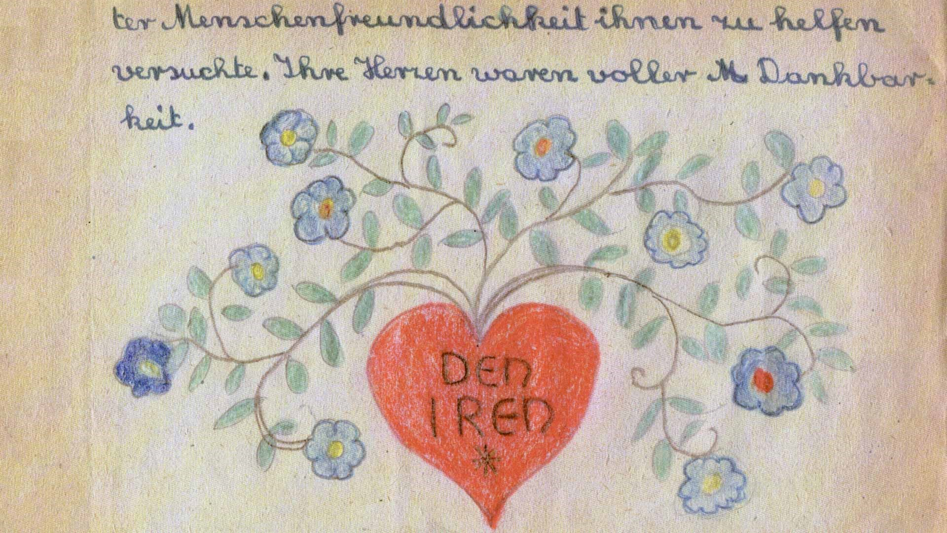 1946, Dedication Letter, Page 85, Danke-Buch Thank You Book for Irish Food Aid, Saarbucken, Germany © Tony O Herlihy