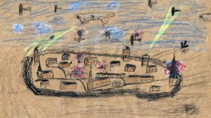 1914/1914, War Scene, School Drawing, Germany ©Museum Elbinsel Wilhelmsburg e.V.
